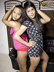 Natty & Rabbit are two horny Bangkok girls who jumped at the chance to do a hardcore scene for us!