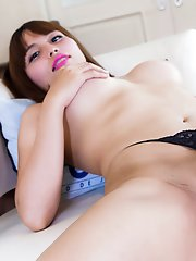 Ayumi is a beautiful Bangkok tgirl with a hot soft body, big juicy tits, a delicious cock and a sexy round ass! Shot by Frank