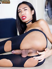 Mos is a sexy slim tgirl with big perky tits, a nice firm ass and a rock hard cock! Enjoy this hot transgirl jacking her big hard cock!